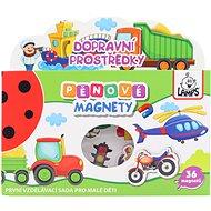 Pěnové magnety - stroje - Didaktická hračka