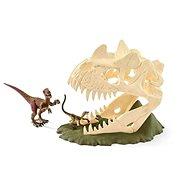 Schleich 42348 Velká lebka s Velociraptorem a ještěrem - Herní set