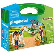 Playmobil 9100 Přenosný box - Péče o koně - Stavebnice