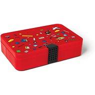 LEGO Iconic Krabička s přihrádkami - červená - Úložný box