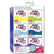 Fimo Soft sada 5+1 Chladné barvy - Modelovací hmota