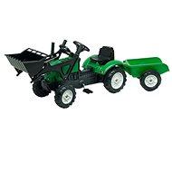 Falk Lander Z160X s valníkem a přední lžící - Šlapací traktor
