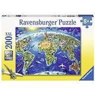 Ravensburger 127221 Large Map of the World - Puzzle