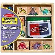 Dřevěná razítka v krabičce Dino - Razítka