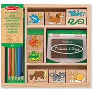 Dřevěná razítka v krabičce Zvířátka - Razítka