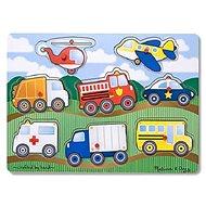 Skládačka dopravní prostředky - Dřevěné Puzzle