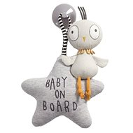 Ptáček do auta Baby on Board - Hračka do auta