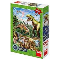 Puzzle Svět dinosaurů - neon - Puzzle