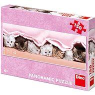 Koťátka pod dekou - panoramic - Puzzle