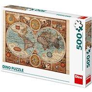 Mapa světa z r.1626  - Puzzle