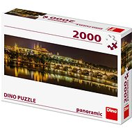 Karlův most v noci - panoramic - Puzzle