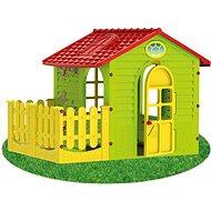 Dětský zahradní domek s plotem střední - Dětský domeček