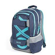 OXY Sport Blue Line Tyrkys - Školní batoh