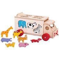 Bigjigs Toys Auto se zvířátky - Dřevěná hračka