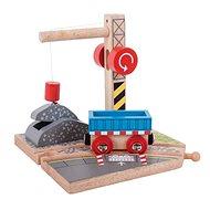 Bigjigs Rail Jeřáb se štěrkem - Příslušenství k vláčkodráze