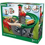 Brio World 33887 Lift and Load Warehouse Set - Train Set