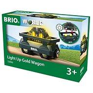 Brio World 33896 Svítící vagón se zlatem - Příslušenství k vláčkodráze