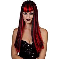 Paruka červenočerná - dlouhé vlasy - Paruka