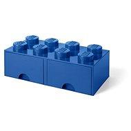Úložný box LEGO Úložný box 8 s šuplíky - modrá