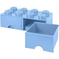 Úložný box LEGO Úložný box 8 s šuplíky - světle modrá