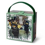LEGO Ninjago box s rukojetí - army zelená - Svačinový box