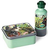 LEGO Ninjago svačinový set (láhev a box) - army zelená - Svačinový box