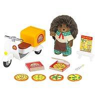 Sylvanian Families Rozvoz pizzy s příslušenstvím a jednou figurkou - Herní set