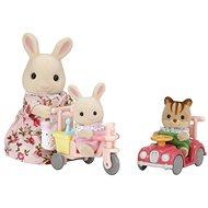 Sylvanian Families Mamka bílý králík s hrajícími si mláďaty - Figurky