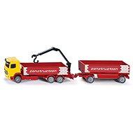 Siku Super - Kamion na přepravu stavebních materiálů s přívěsem - Kovový model