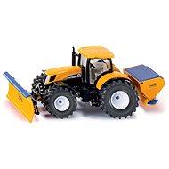 Siku Super - Traktor s přední radlicí a sypačem soli - Kovový model