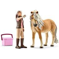 Schleich 41431 Klisna koně Islandského s ošetřovatelkou - Figurky