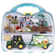 Farmářský set v kufříku Traktor s cisternou