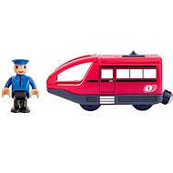 Woody Moderní elektrická mašinka - červená - Příslušenství k vláčkodráze