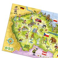 Kouzelné Čtení - Puzzle Česká republika - Kniha pro děti