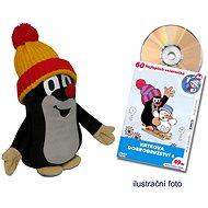 Krtek 25 cm červeno-žlutý kulich + DVD - Plyšák