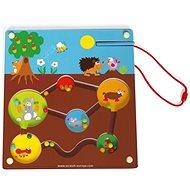 Scratch Magnetické bludiště Zahrádka - Kreativní hračka