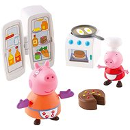 Peppa Pig - Kuchyňská sada + 2 figurky - Hrací set