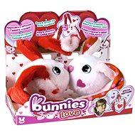 Bunnies Love Králíček s magnetky - set 2ks - Plyšák
