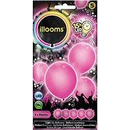 LED balónky - růžové 4 ks - Herní set