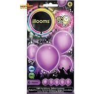 LED balónky - fialové 4 ks - Herní set