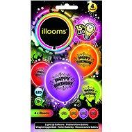LED balónky - narozenínové 4 ks - Herní set