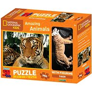 National Geographic 3D Puzzle s figurkou Tygr - Puzzle