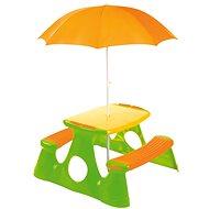 Piknikový stolek a lavice se slunečníkem - Stolek