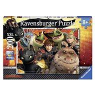 Ravensburger 128129 Jak vycvičit draka: Škyťák, Astrid a draci  - Puzzle