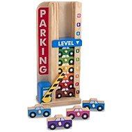 Melissa & Doug - Stohovací parkovací garáž - Dřevěná hračka