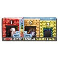 Melissa & Doug - Kostky - garáže s auty - Dřevěná hračka