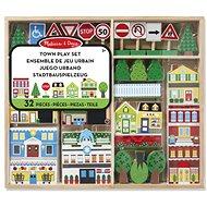 Melissa & Doug - Dřevěné město - Dřevěná hračka