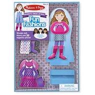 Melissa & Doug - magnetické oblékání - Panenka - Dřevěná hračka