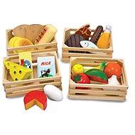 Melissa & Doug - Kuchyňský set - 4 bedýnky - Dřevěná hračka
