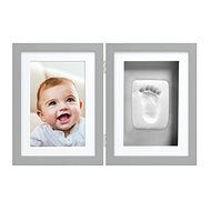 Pearhead Double Frame for Foot and Hand Imprint, Grey - Photo Frame